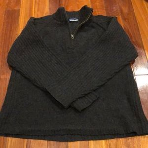 ⭐️ Patagonia Wool Sweater Men's 1/4 zip Fall '01